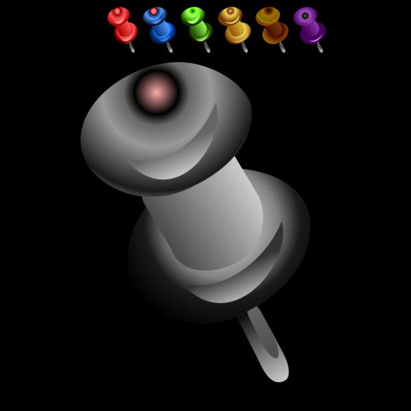 Push Pin Gray PNG Clip art