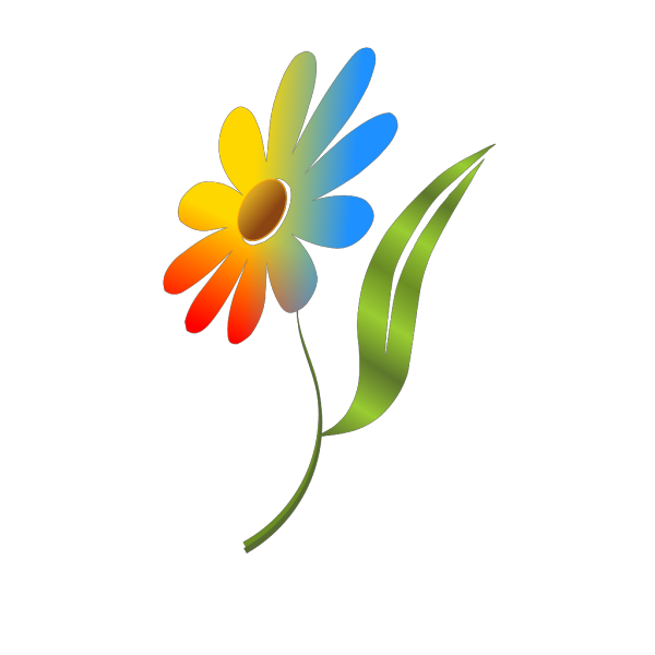 Rainbow Daisy PNG clipart