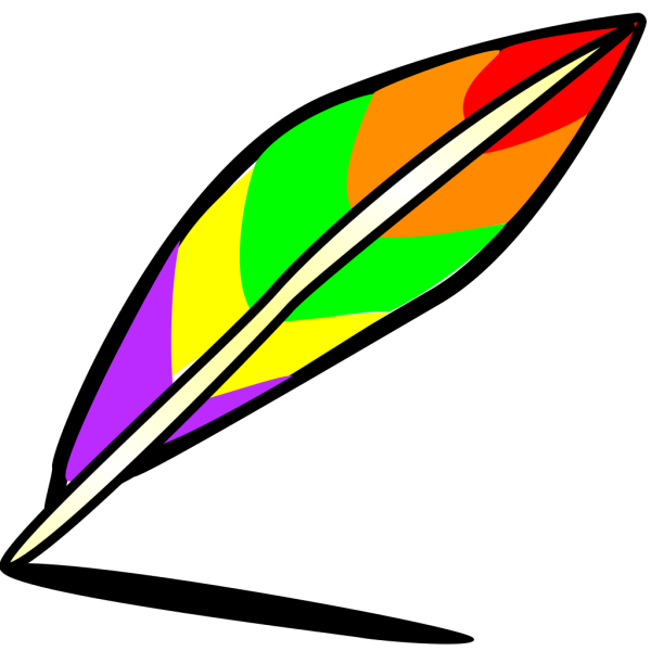 Quill Of Many Colors PNG Clip art
