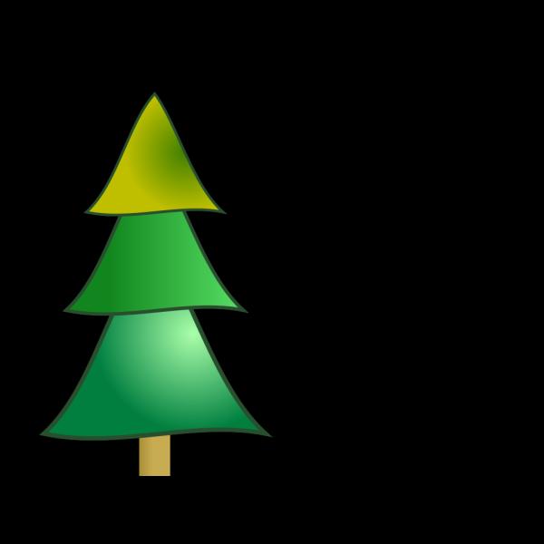 Christmas Tress Color PNG Clip art