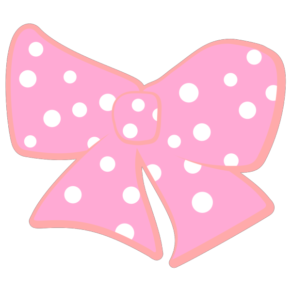 Bow With Polka Dots PNG Clip art