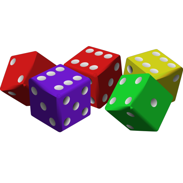 Colorful Dice PNG Clip art
