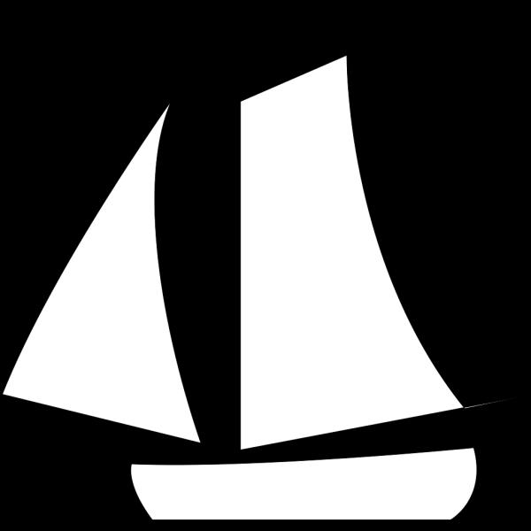 Sailing Boat White PNG Clip art