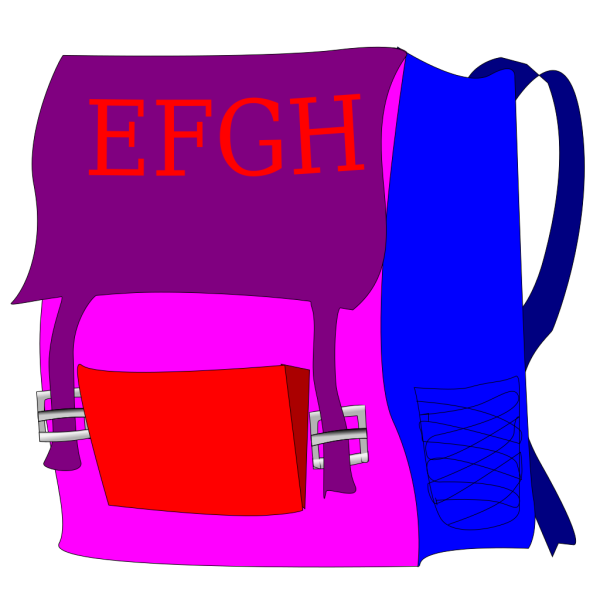 Backpack With Letters PNG Clip art