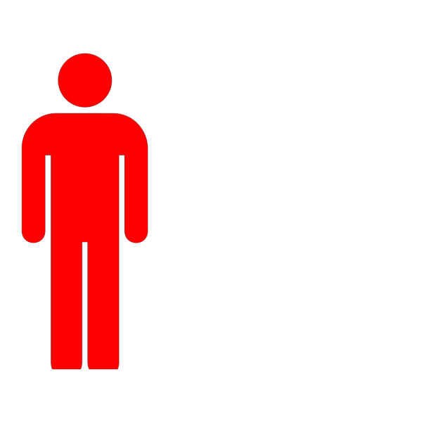 Red Person PNG Clip art