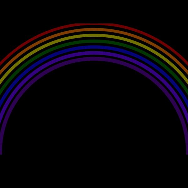 Dark Rainbow PNG Clip art