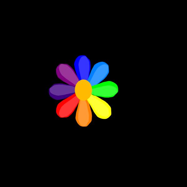 Bright Rainbow Daisy PNG Clip art