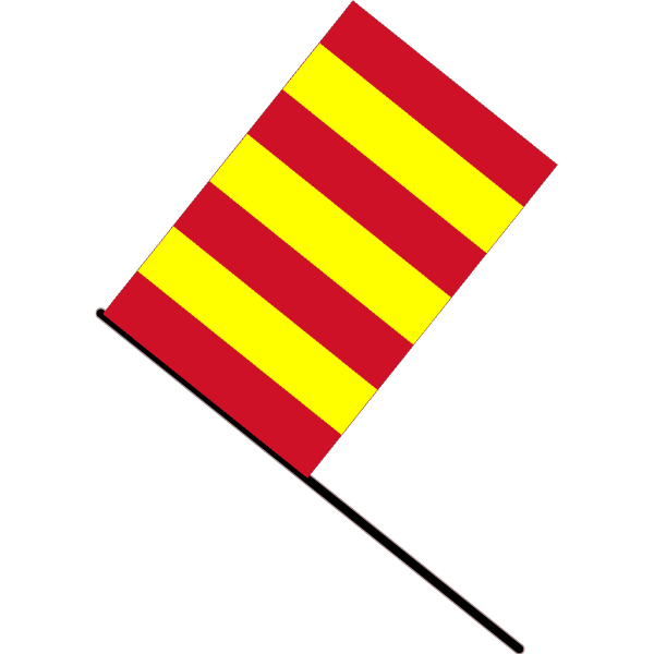 Yellow And Red Striped Flag PNG Clip art