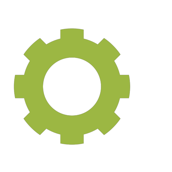 Gear Lime Cog PNG Clip art