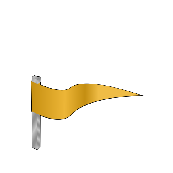 Waving Gold Flag PNG Clip art