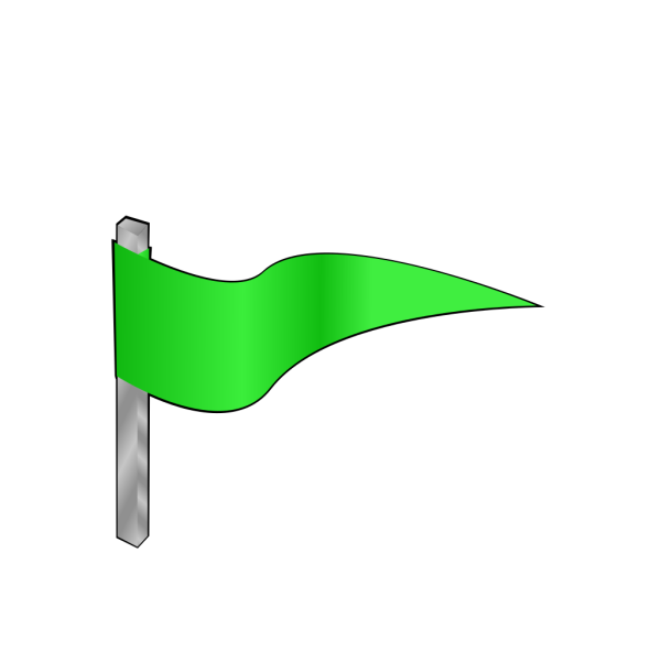 Waving Green Flag PNG Clip art