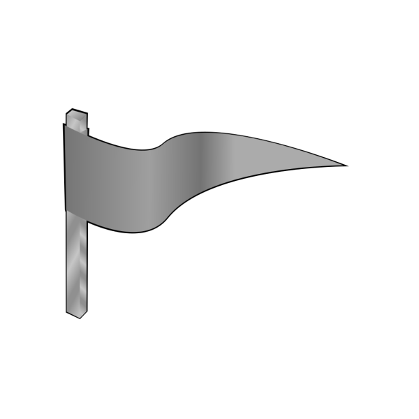Waving Gray Flag PNG Clip art