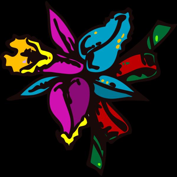 Rainbow Daffodil PNG Clip art