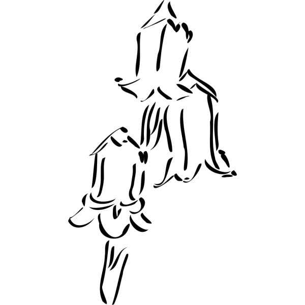 Bellflower Outlines PNG Clip art