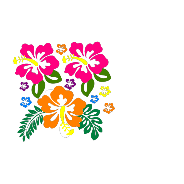 Hibiscus Corner 2 PNG Clip art