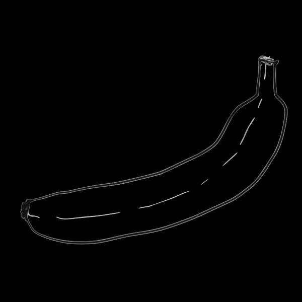 Single Line Art Banana PNG Clip art