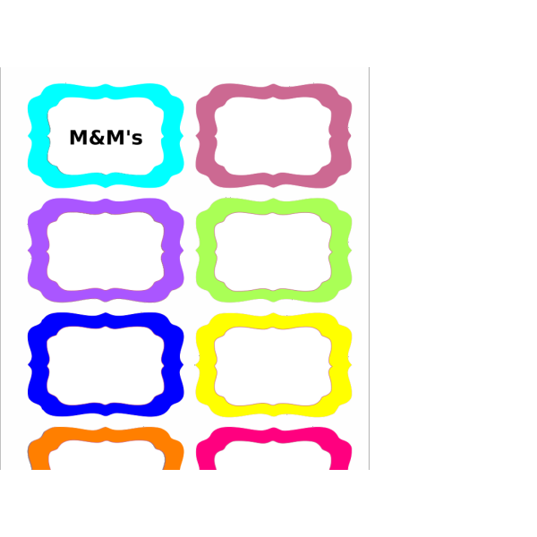 Colorful Tags PNG icons