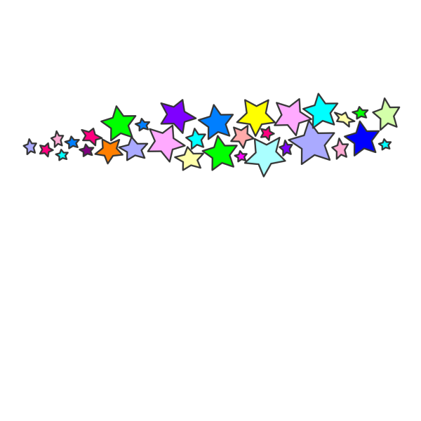 Trail Of Stars PNG Clip art