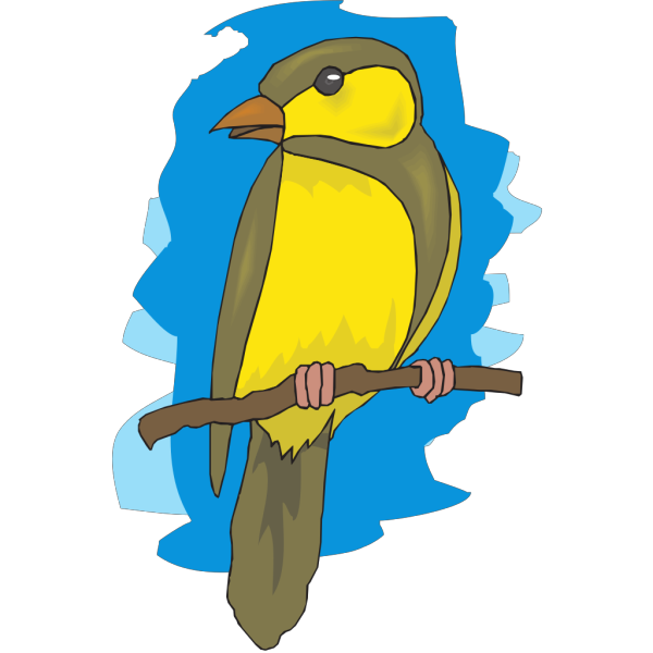 Perched Goldfinch PNG images