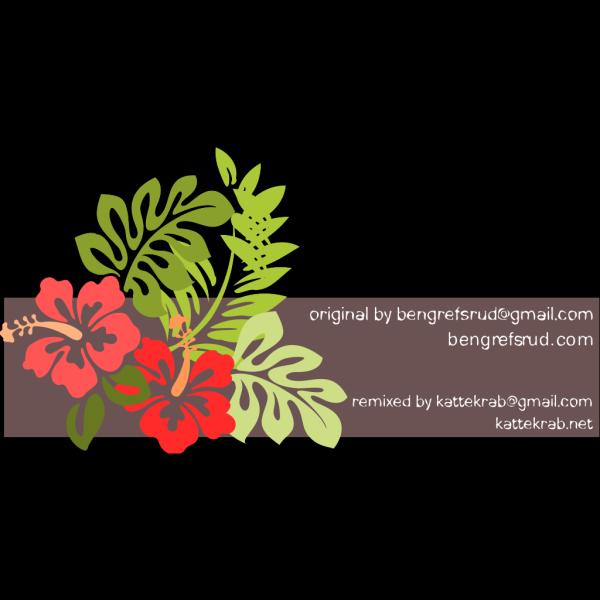 Hibiscus 3-color PNG Clip art