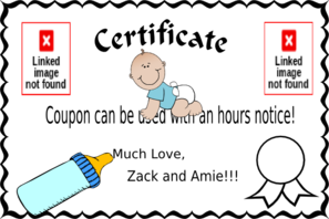 Babysitting Coupon PNG Clip art