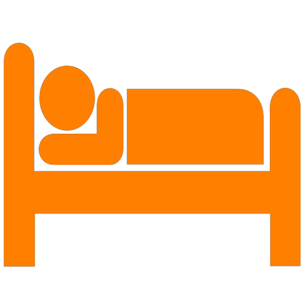 Orange Bed PNG Clip art