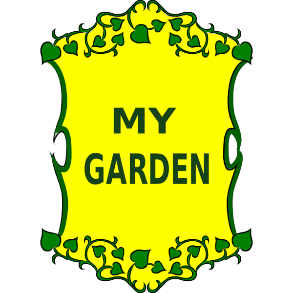 Zucchini Garden Sign Outline PNG Clip art