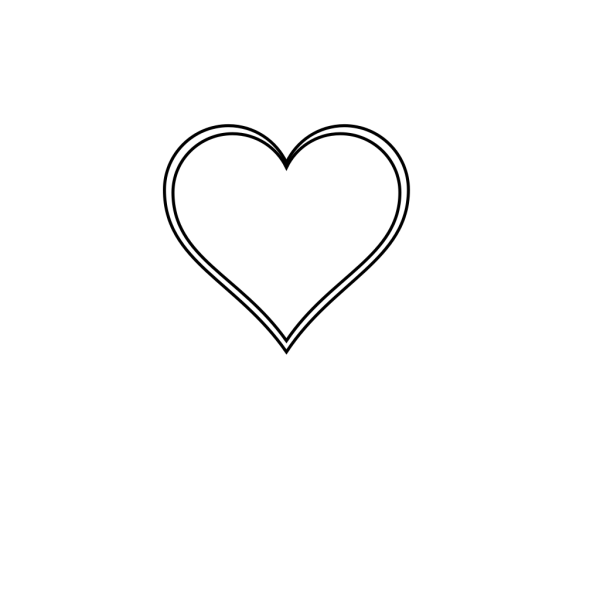Double Outline Heart Without Excess White Around It PNG Clip art