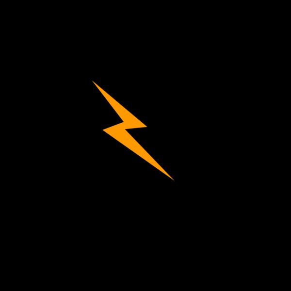 Orange Bolt PNG icon
