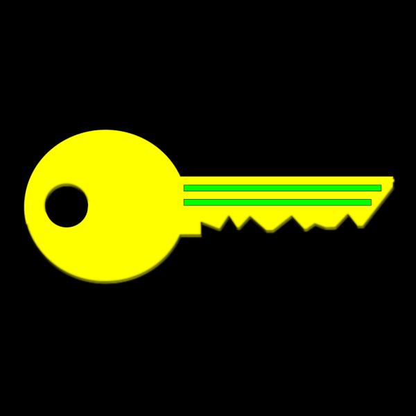 Yellow Key PNG Clip art