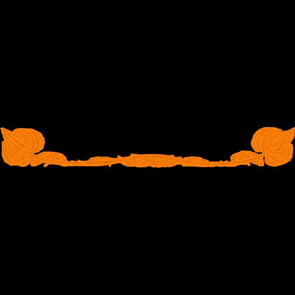 Brown Leaf, Orange Border PNG Clip art