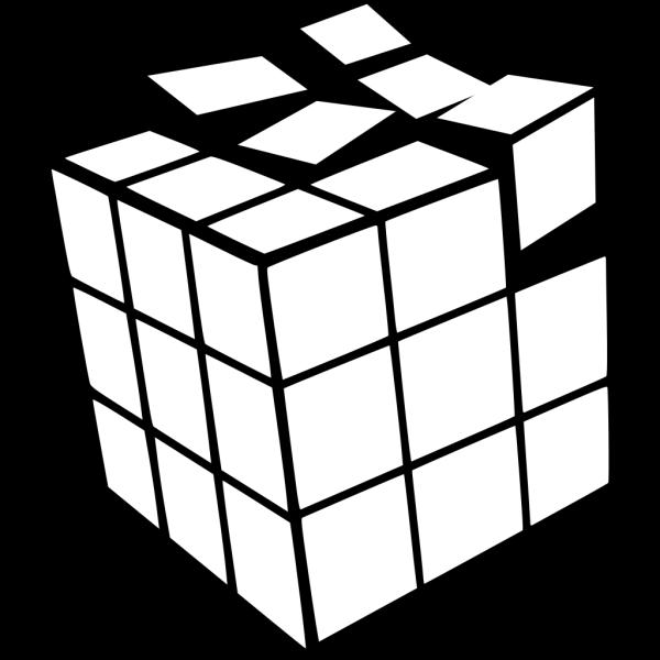 Rubiks Cube 3d Colored 2 PNG Clip art