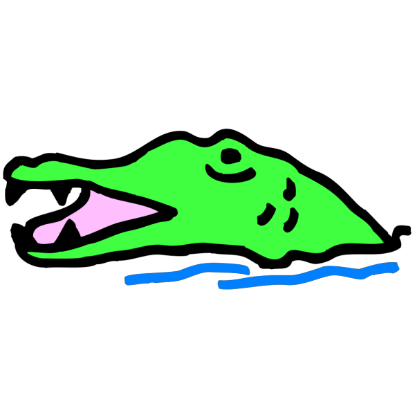Alligator Rising From The Water PNG images