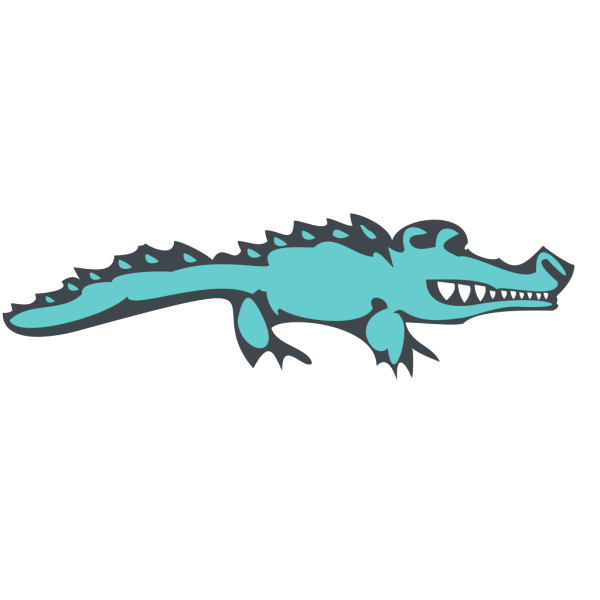 Blue Alligator Art PNG images