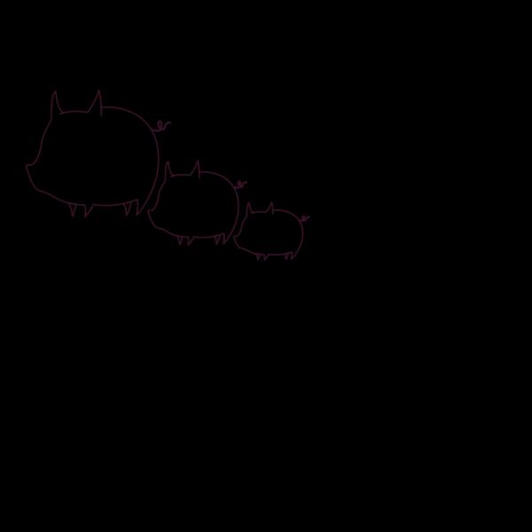 Pig Outline PNG Clip art