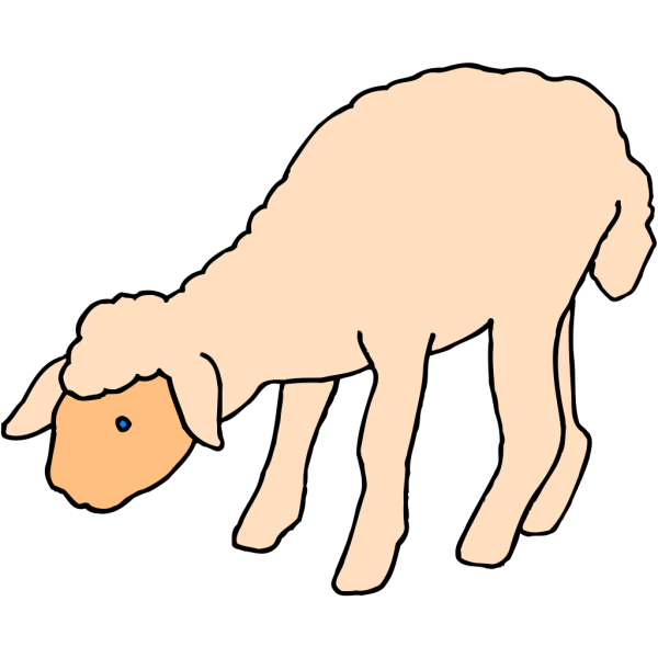 Lamb Bending Down PNG Clip art