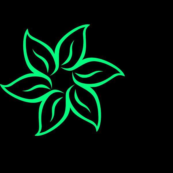 Green Flower PNG Clip art