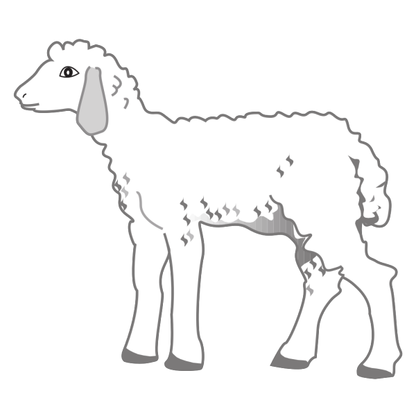 Fluffy Lamb PNG Clip art