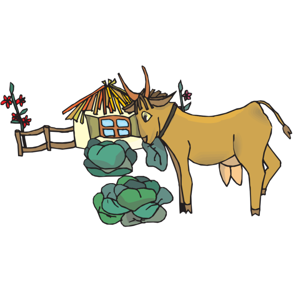 Goat In Garden PNG images