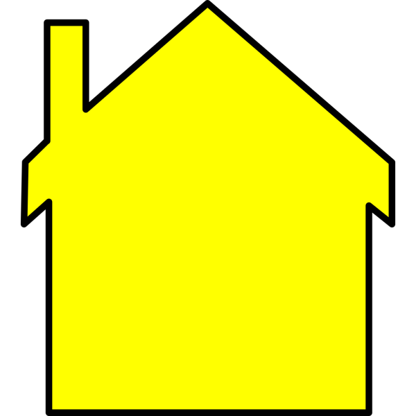 Yellow House PNG Clip art