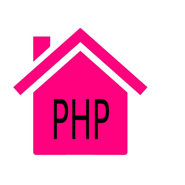 Pink House 3 PNG Clip art