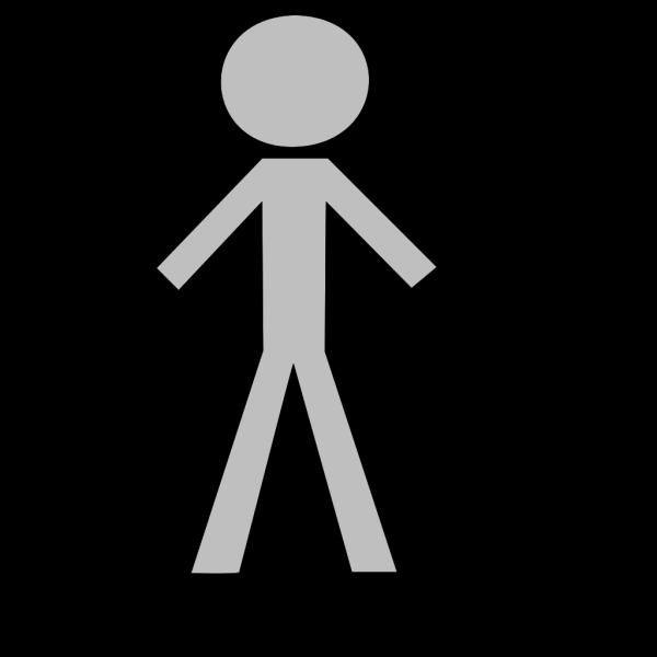 Gray Stick Figure PNG Clip art