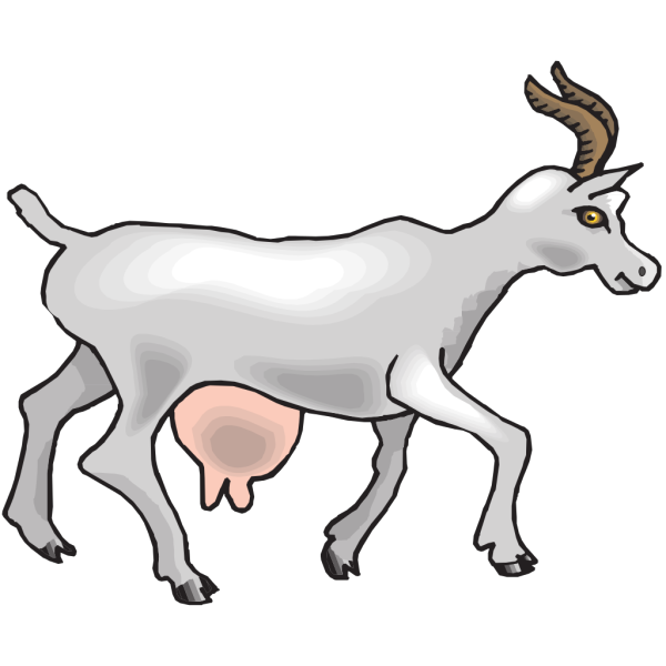 Side View Goat PNG images