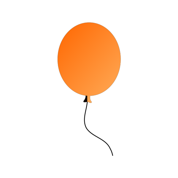 Orange Balloon PNG Clip art