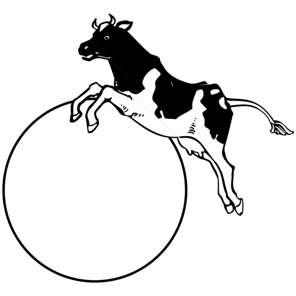 Cow Jumping Over Moon PNG Clip art
