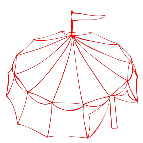 Red Circus Tent PNG Clip art