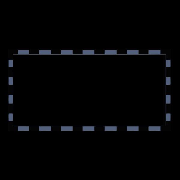 Blue Rectangular Border PNG Clip art