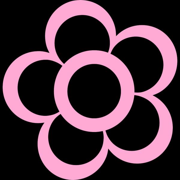 Pink Flower Outline PNG Clip art