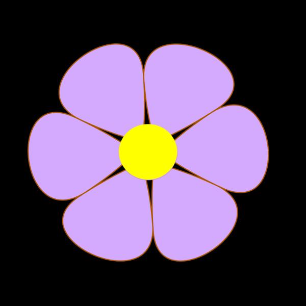 Purple Flower Outline PNG Clip art
