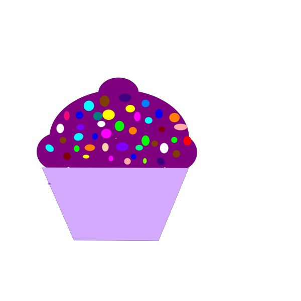 Cupcake Purple And Lime PNG Clip art
